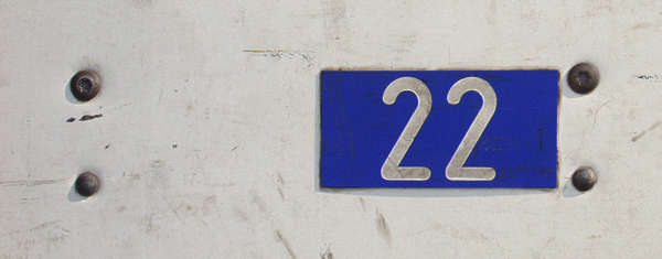 sign plastic number 2